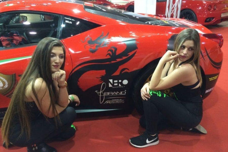 Con Fabio Barone e la sua Ferrari al Supercar Roma Autoshow 2016