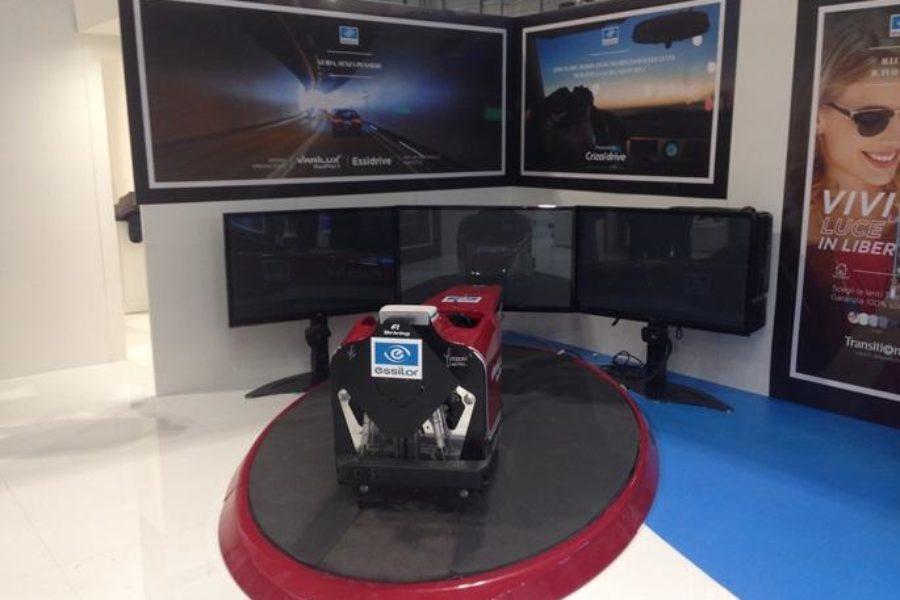 Essilor Italia e il Simulatore F1 Fbrand a MIDO 2017