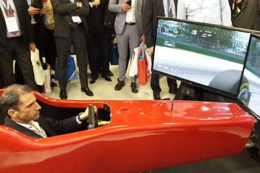 PICTET ha Noleggiato il Simulatore F1 per il Suo Stand al MiCo