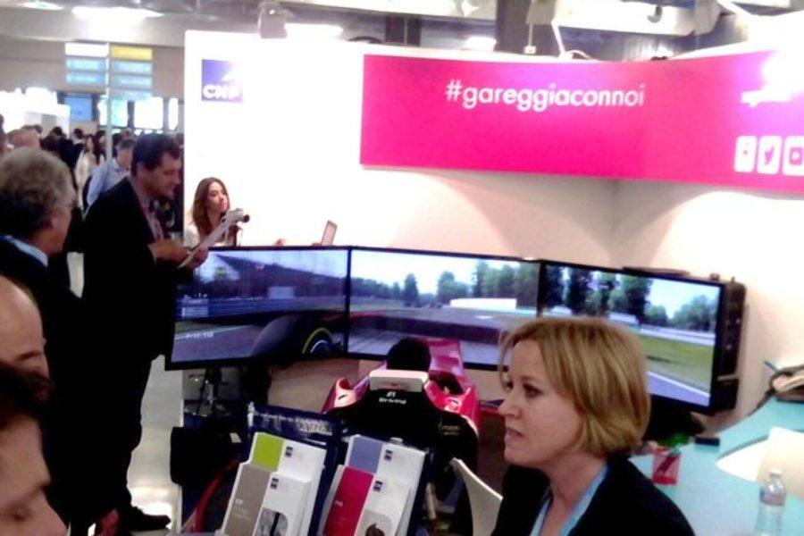 Simulatore F1 con CNP Partners al Salone del Risparmio di Milano