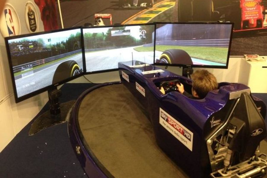 Simulatore F1 Fbrand all'Evento Sky Sport al Motorshow di Bologna