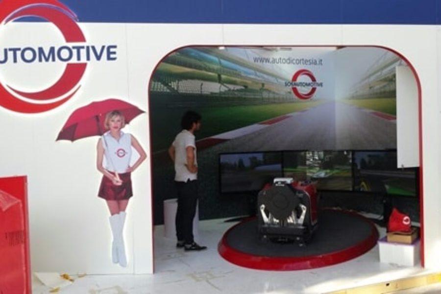 SOS Automotive ha scelto il Simulatore F1 per l'Autopromotec di Bologna