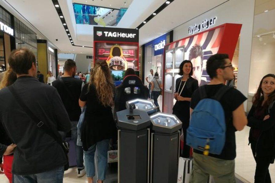 Si Parte con il Simulatore GT con Tag Heuer presso Gioiellerie Fabiani a OrioCenter Ottobre-Dicembre 2017