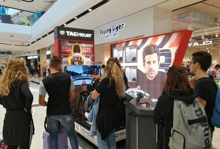 Postazione Simulatore Gran Turismo Fbrand - Stand Tag Heuer OrioCenter Bergamo