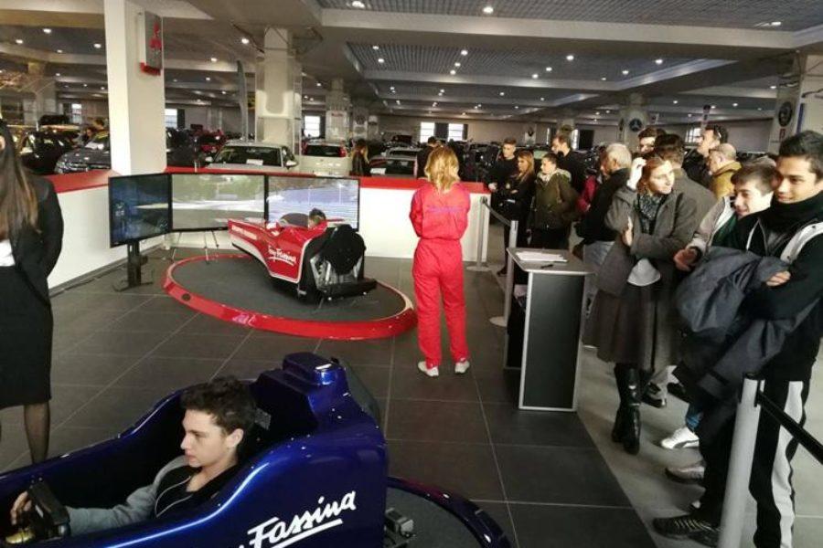 Il Simulatore F1 Protagonista Anche al Concessionario Auto Gruppo Fassina Milano