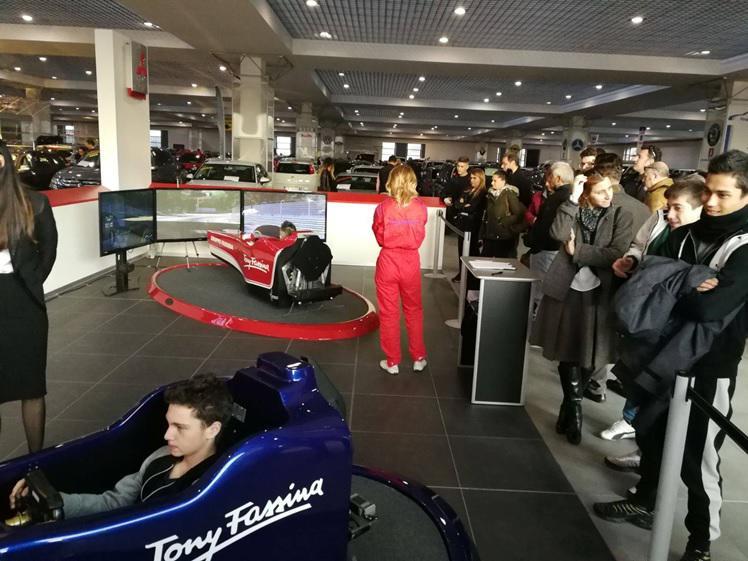 Simulatore F1 Fbrand - Concessionario Auto Gruppo Fassina Tony Fassina - Milano