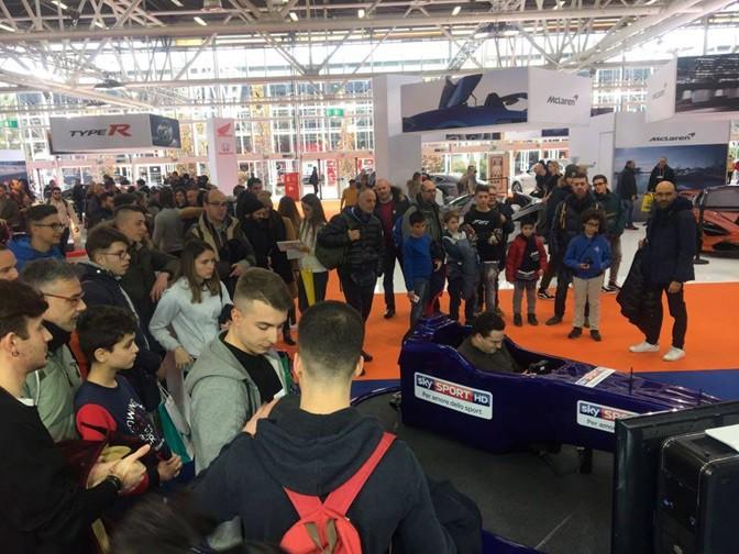 Prime Code e Prove del Simulatore F1 Pro con Fbrand e Sky Sport al Motorshow Bologna 2017