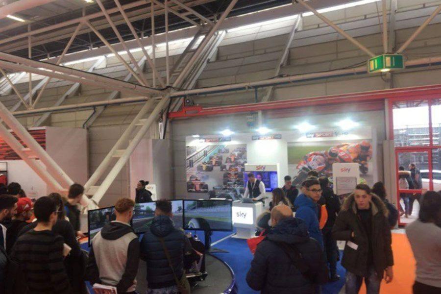 Prime Code e Prove del Simulatore F1 Pro con Sky Sport al Motorshow Bologna 2017