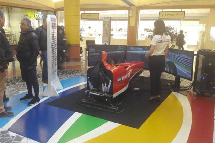 Anche all'Auchan di Casamassima (Ba) Sky Sport e Simulatore F1 Ci Sono