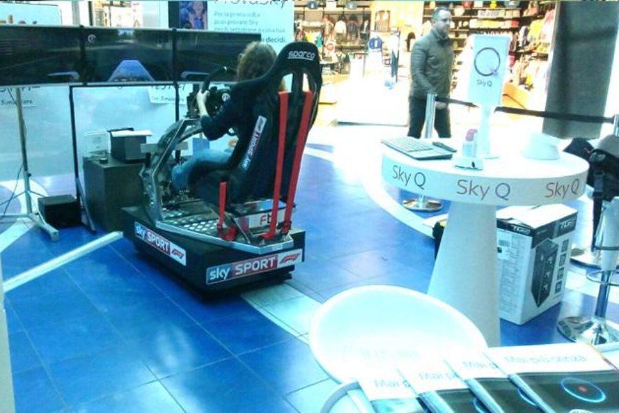 Simulatore F1 GT con Sky Sport al Centro Commerciale Granfiume