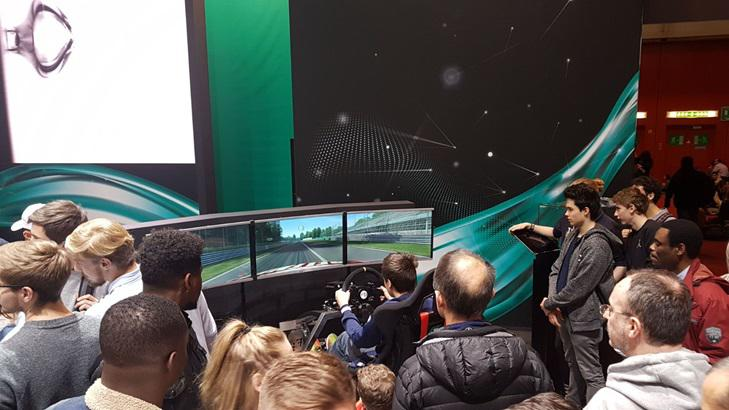 Simulatore GT Rally Petronas Fbrand - Stand Motorshow Ginevra - Salone Auto