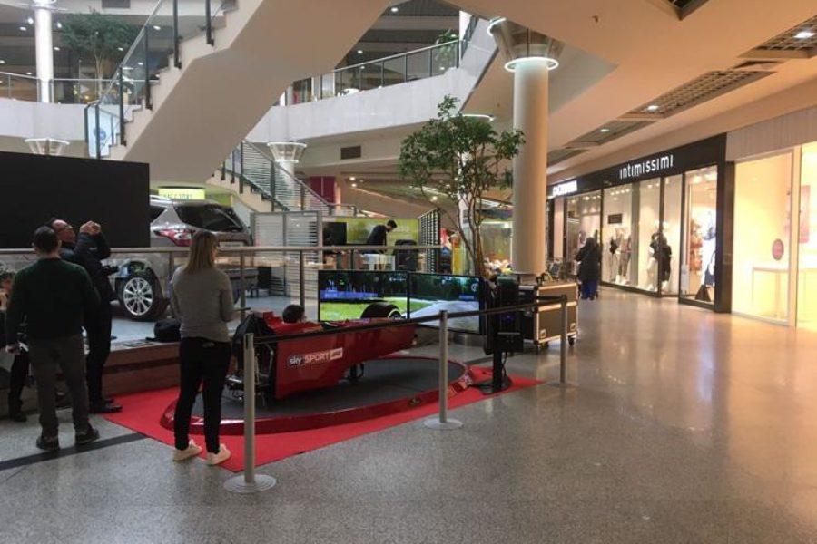 Sky e Fbrand e il Simulatore F1 nei Centri Commerciali di Tutta Italia