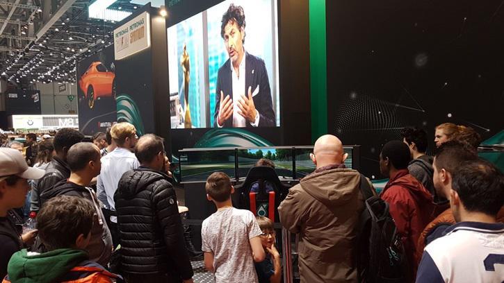 La Testimonianza di Petronas Italia sul Simulatore GT al Motorshow Ginevra
