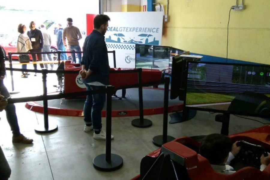 Fbrand e 2 Simulatori F1 all'Evento Ideal Standard, Autodromo Vallelunga
