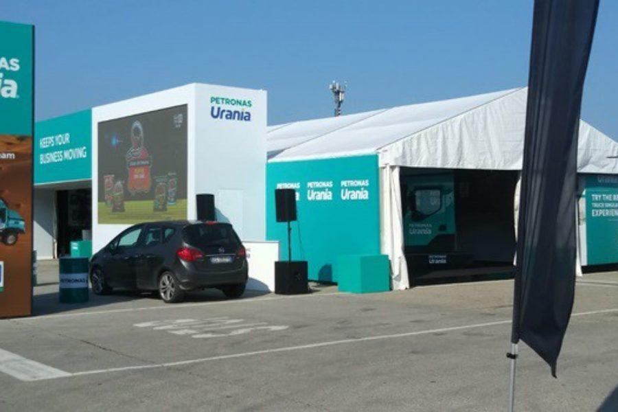 Petronas Urania con il Simulatore di Camion e Fbrand al Misano Truck Race