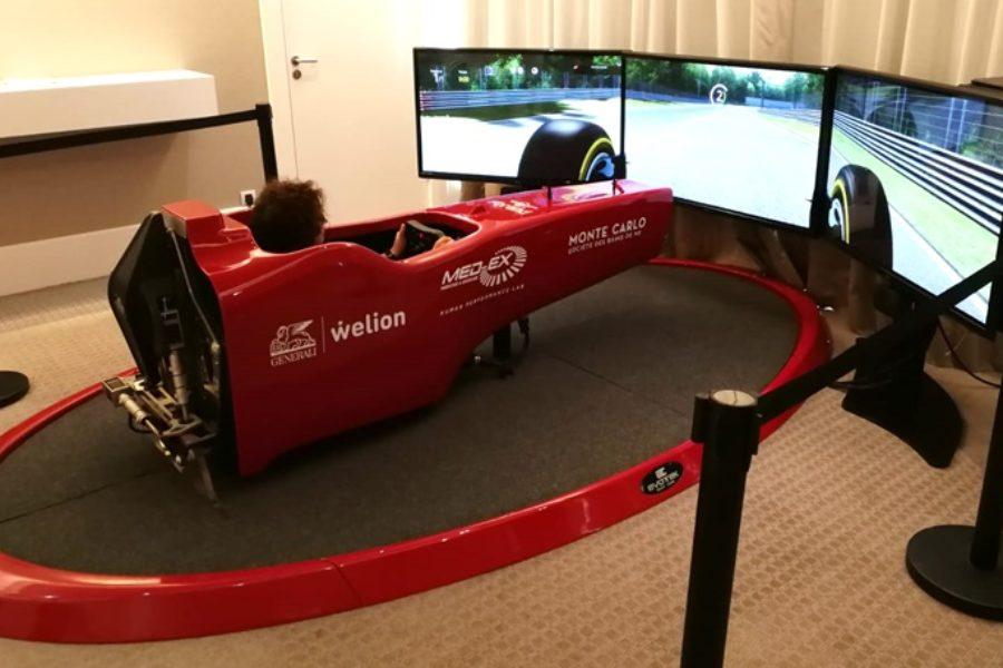 Evento Super Lusso per Generali e Med-Ex a Montecarlo con 2 Simulatori F1
