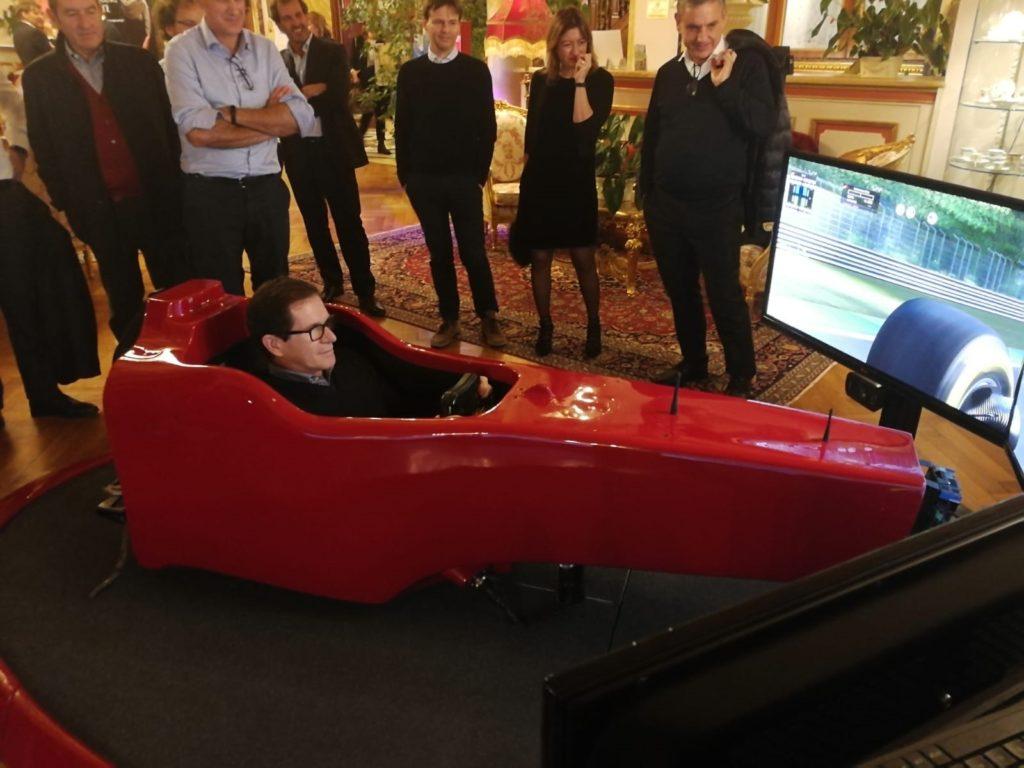 Domenico Fumagalli - Senior Partner KPMG Italy - a Bordo del Simulatore F1 Fbrand