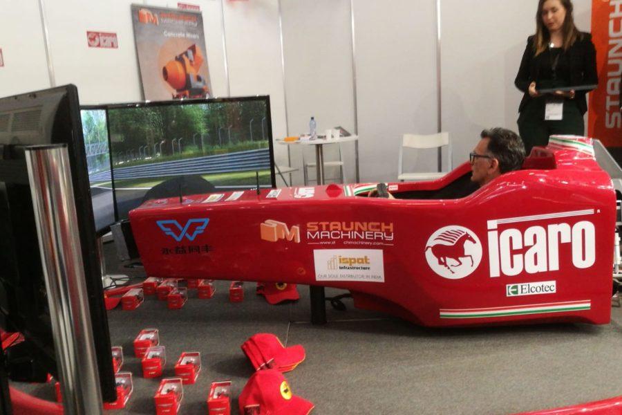 Nuovo Successo del Simulatore F1 con Icaro Machinery a Bauma 2019