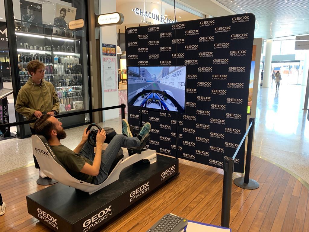 Simulatore Formula E Professionale con Geox in Francia e Germania