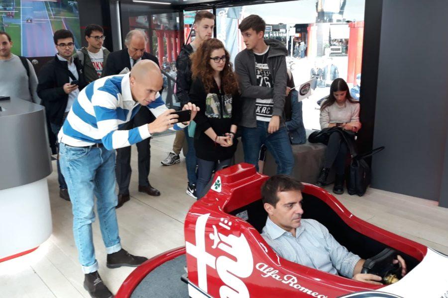 Simulatore Alfa Romeo F1 Racing Team con Fbrand