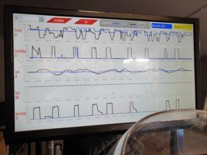 Simulatore MotoTrainer Grafico Andamento Qualità Gara Corsa Simulatore Moto Professionale